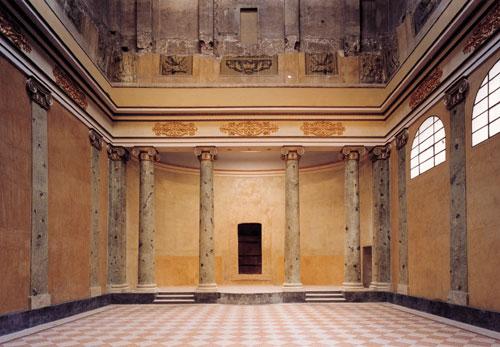 L'interno della Sinagoga a Reggio Emilia