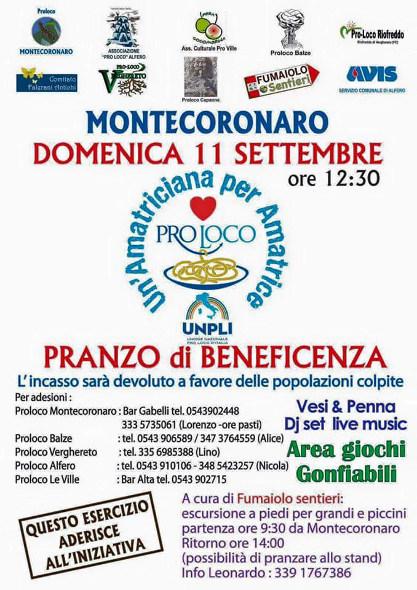 Unpli Pro Loco Emilia Romagna - Pranzo di Beneficenza - Montecoronaro