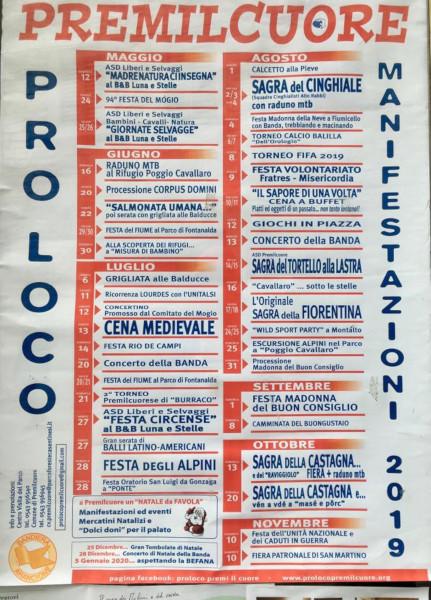 Calendario Sagre.Calendario Eventi Premilcuore Pro Loco Emilia Romagna Unpli
