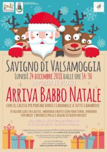 Arriva Babbo Natale @ Savigno di Valsamoggia (BO)