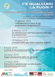 C'è qualcuno là fuori? Conferenze scientifiche a Castel San Pietro Terme @ Castel San Pietro Terme (BO)