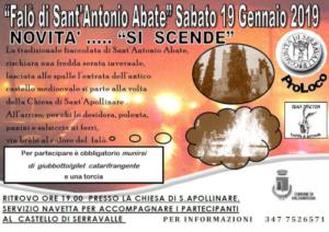Falo di Sant'Antonio Abate @ Castello di Serravalle (BO)