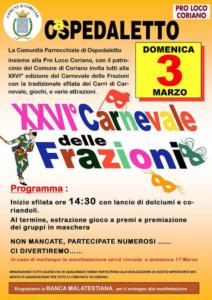 XXVI° Carnevale delle Frazioni @ Ospedaletto, Coriano RN