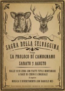 Sagra della Selvaggina @ Camugnano (BO)