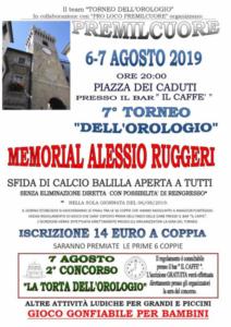 Memorial Alessio Ruggeri @ Premilcuore (FC)