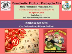 Tombola per tutti @ Predappio Alta (FC)