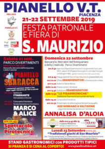 Festa Patronale e Fiera di San Maurizio @ Pianello Val Tidone PC