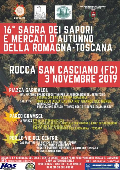 Sagra dei Sapori e Mercati d'Autunno della Romagna-Toscana @ Rocca San Casciano (FC)
